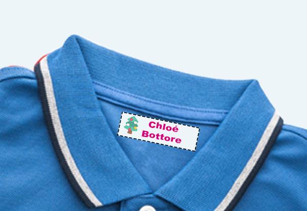Étiquettes imprimées pour vêtements