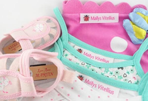 Kits étiquettes (etiquettes habits et étiquettes autocollantes)