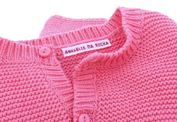 Étiquettes tissées pour vêtements